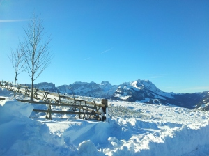 Our start at Restaurant Eggli. View of Altmann, Ebenalp and the Säntis.