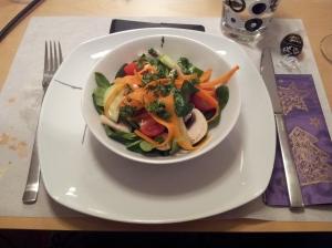 A delicious salad appetizer.