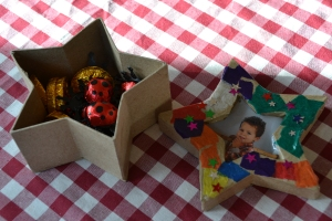 Dessert: Yves' godson decorated this cute little box for him for Christmas.