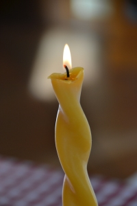 My Beeswax Candles that I made for Yves last Christmas.