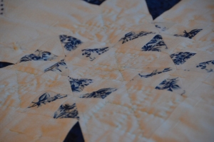 My Latest Quilty Obsession is Hand Quilting:  My Pinwheel Quilt