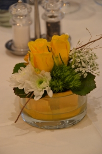 Simple Flower Arrangement at 'Bad Horn' Gala Dinner.