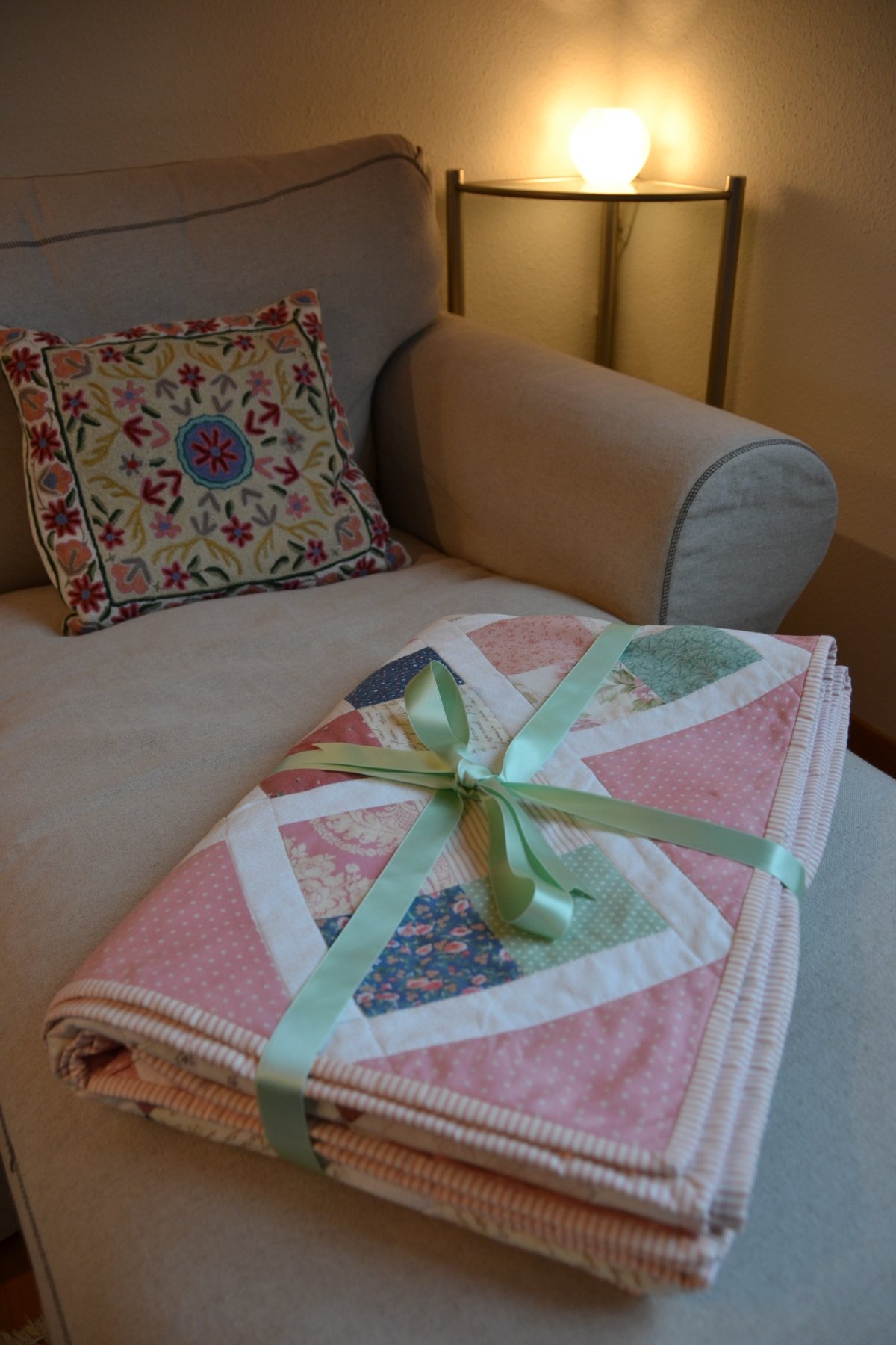 My First Quilt All packed up and ready to send to my niece Stephanie