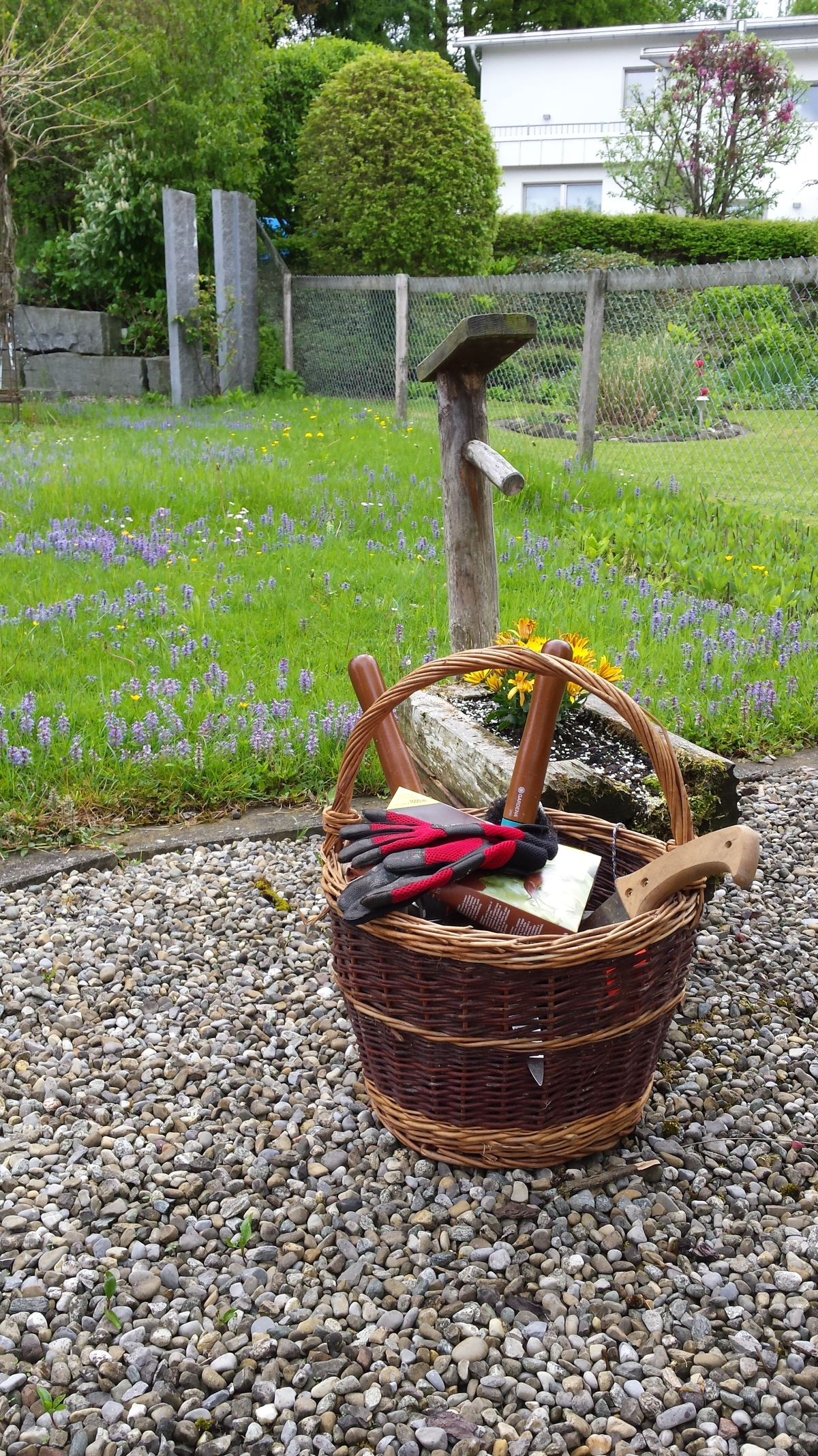 My basket of gardening tools.